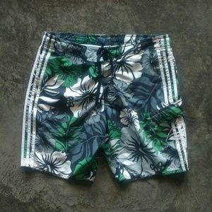 adidas Hibiscus Print Swim Trunks L